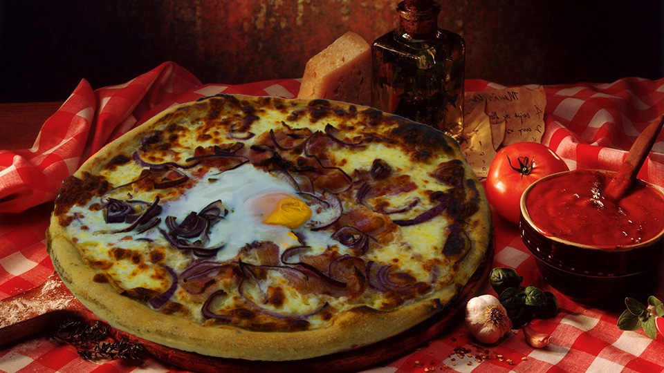 Breakfast pizza 60cm